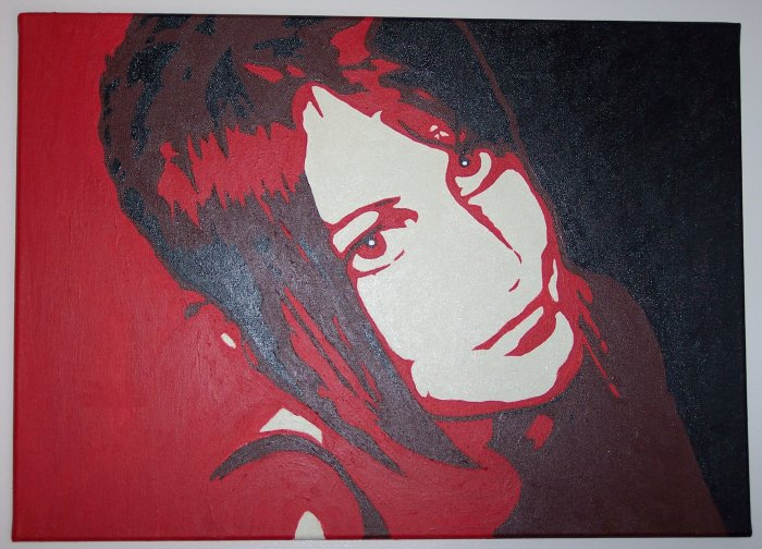 Piece number one - a pop art style piece of my sister