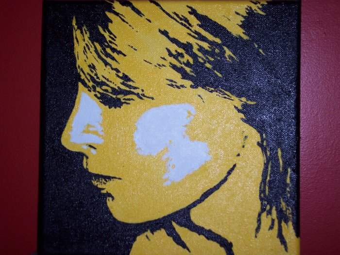 Self Portrait...again in my 'paint by numbers' pop art style...