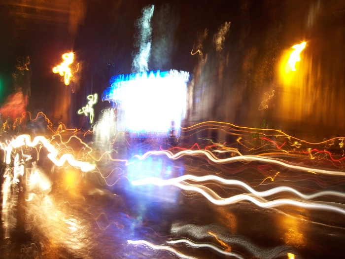 Paris traffic slow shutter speed