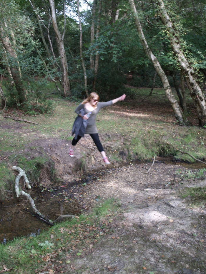 See how I jump the burbling brook...like a gazelle!